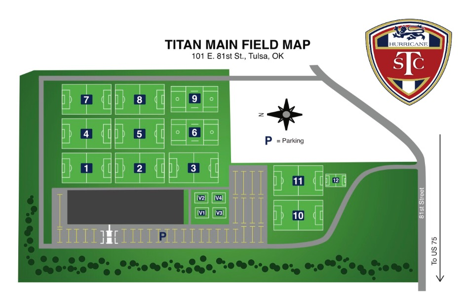 b43902a50 Titan Sports and Performance Center (Home of TSCH s New Elite Training  Center) - Directions Field Map-South ...